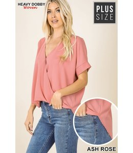PODOS Plus Woven Heavy Dobby Layered Front Top