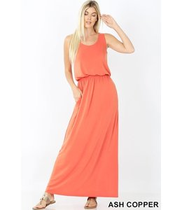 PODOS Bubble Top Maxi Dress