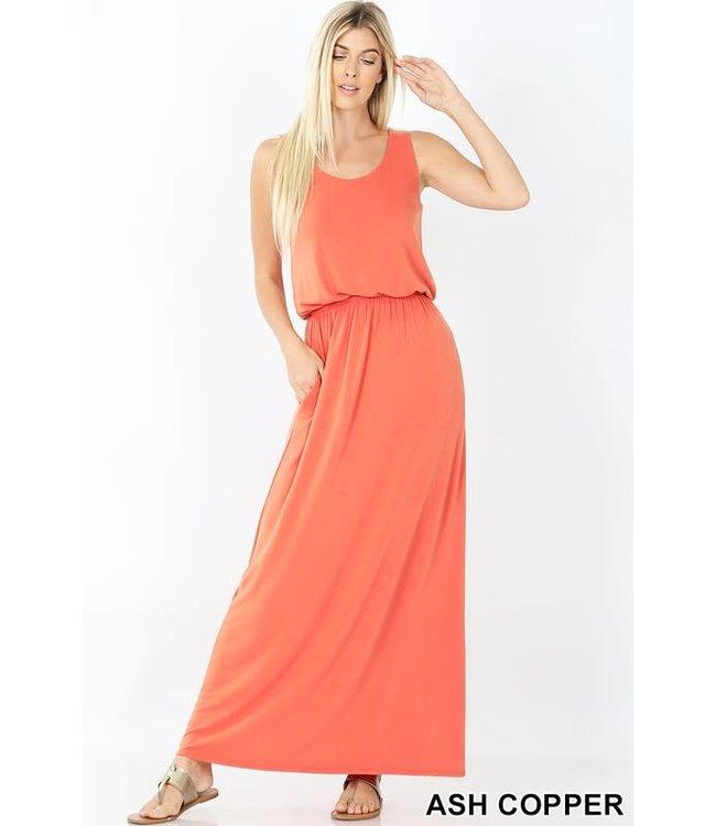 PODOS Bubble Top Maxi Dress