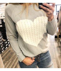 PODOS Heart Sweater V20