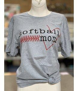 PODOS SSTS Heart Softball Mom