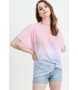 PODOS Ombre Front Knotted Top