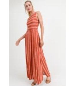 PODOS Striped Sleeveless Maxi w/ Pockets