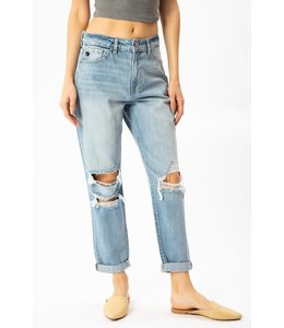 PODOS High Rise Mom Fit Jeans