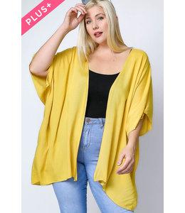 PODOS Dolman Sleeve Kimono PLUS