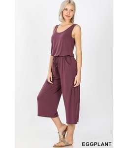 PODOS Sleeveless Jumpsuit w/h Pocket