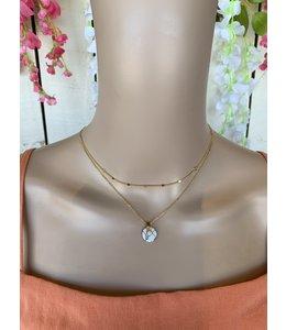 Golden Stella Sparkle Necklace NN76777