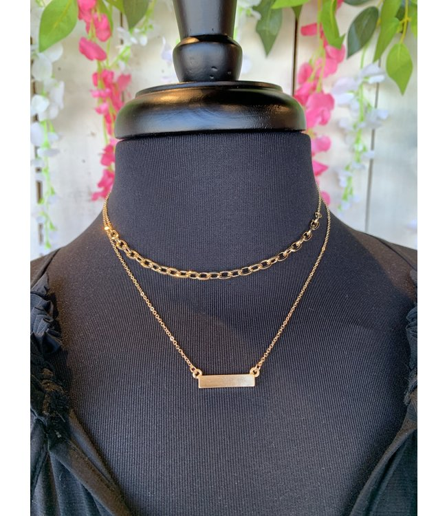 Caroline Hill n18433 Layered Bar & Link Necklace