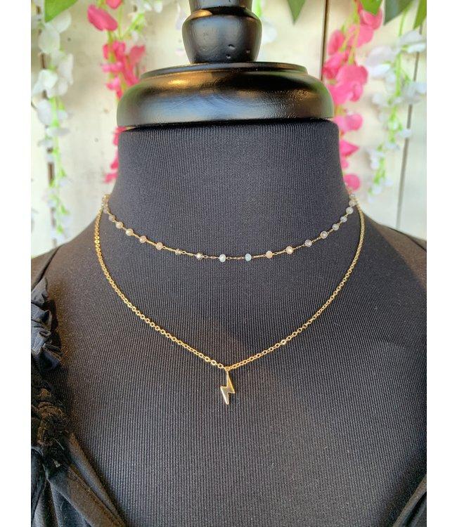 Caroline Hill n18493 Lightning Bolt Charm Necklace
