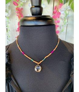 Golden Stella NE82085 Glass Bead Necklace