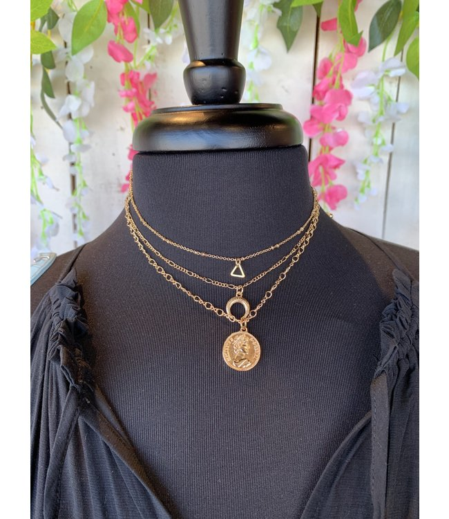 Caroline Hill 3 in 1 Necklace Set w/ Coin