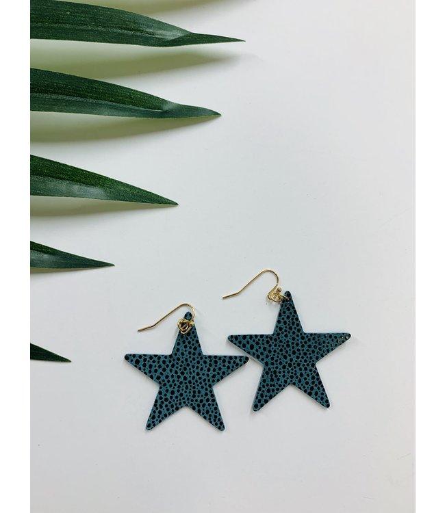 Golden Stella Star Earrings EP26185