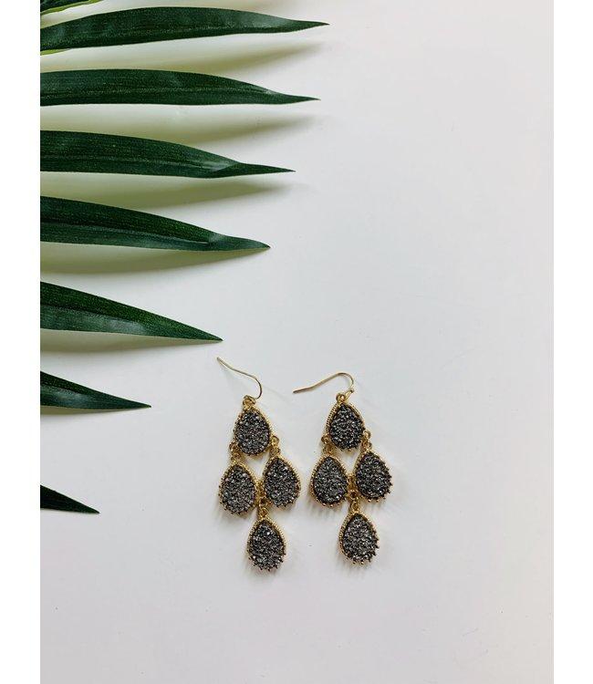 Golden Stella EP04764 Multi Stone Drop Earrings