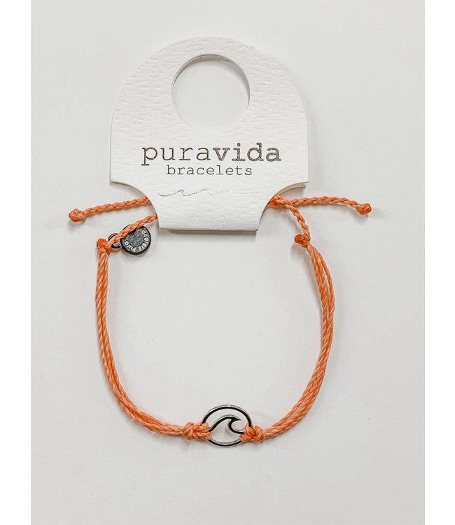 PuraVida PV Silver Wave Bracelet