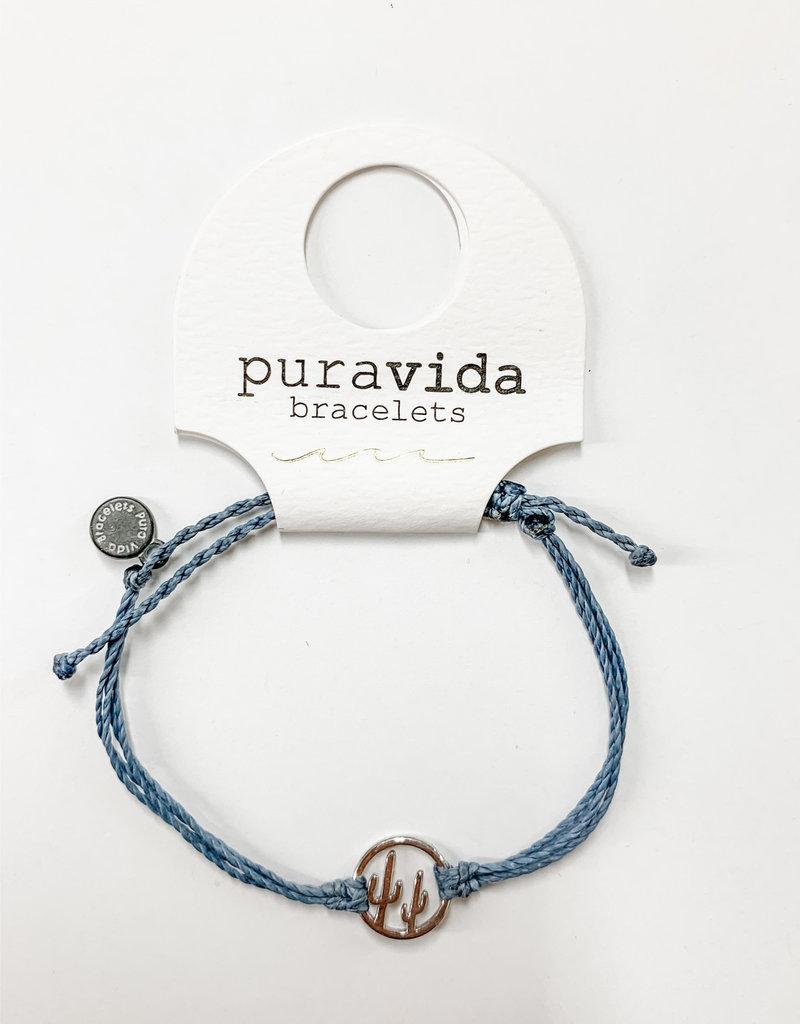 PuraVida PV Silver Cactus Bracelet