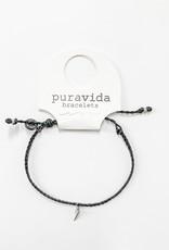 PuraVida PV Silver Lightning Braid Bracelet