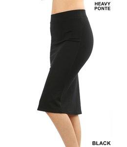 PODOS Knee Length Pencil Skirt