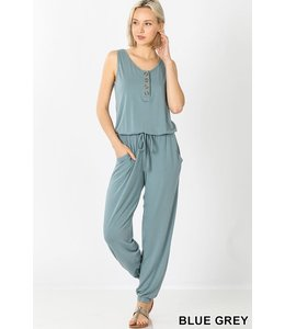 PODOS Sleeveless Jogger Jumpsuit