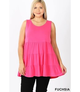 PODOS Plus Sleeveless Tunic Top
