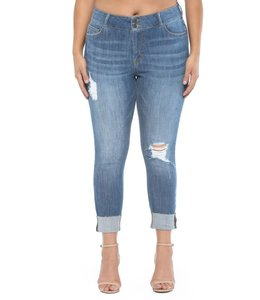 PODOS Mid Rise 2 Button Skinny Plus