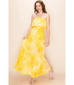 PODOS Tie Dye Tier Maxi Dress