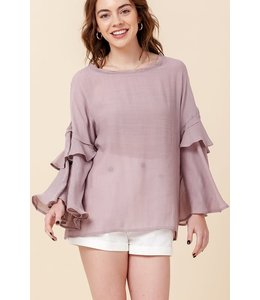 PODOS Bell Sleeve Blouse
