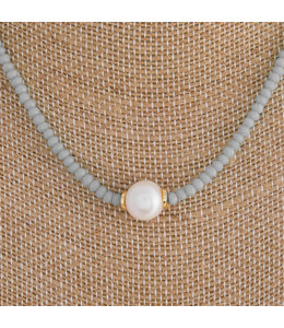 Pearl Accent Beaded Necklace