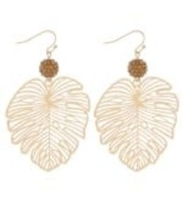 Filagree Palm Leaf Earrings