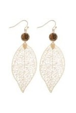 Filagree Leaf Earrings