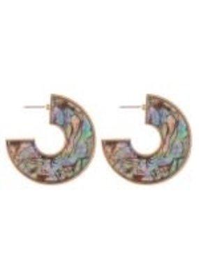Two Tone Resin Earrings