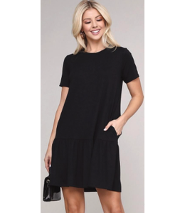 PODOS Ruffle Hem Dress