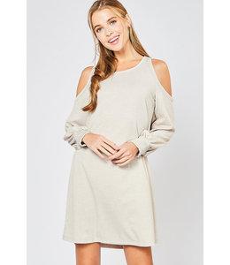 PODOS Cold Shoulder Knit Dress