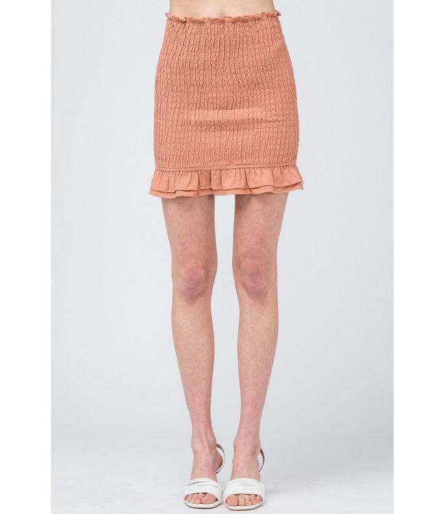 PODOS Smocked Pencil Skirt