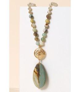 PODOS Stone & Bead Necklace