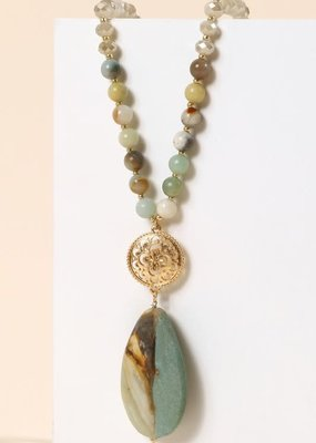 PODOS Stone & Bead Necklace