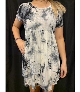 PODOS Tie Dye Print Dress