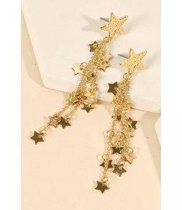 PODOS Star/Chain Earrings