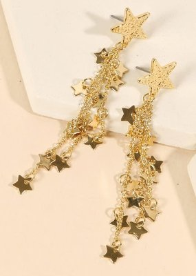 PODOS Star/Chain Earrings