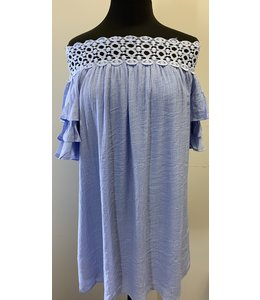 PODOS Ruffle Sleeve Dress