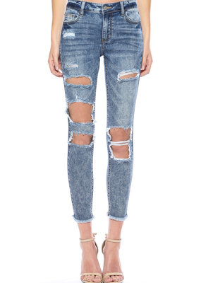 Cello Jeans MR Distress Crop Skinny