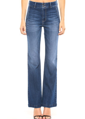 Cello Jeans High Rise Flares w/ Back Yoke