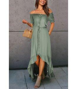 PODOS Off Shoulder Swing Dress