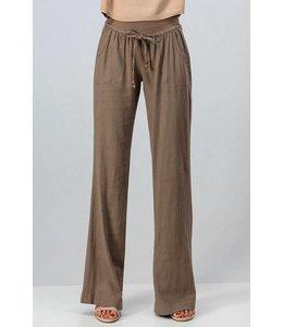 PODOS Linen Flare Pants w/ Drawstring Waist