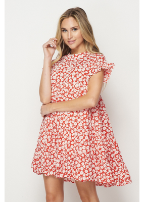 PODOS Tiered Floral Dress