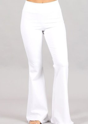 PODOS Flared, Frayed Hem Pull-on Pants