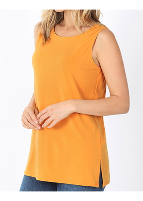 PODOS Ity Sleeveless Top w/ Side Slit