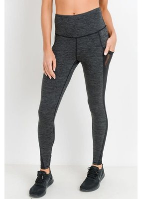 PODOS High Waist Mesh Pocket Leggings