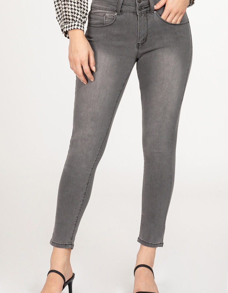 YMI 2 Button Muffin Top High Rise Ankle