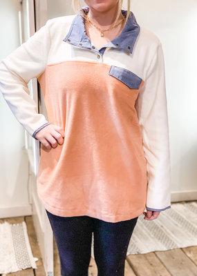PODOS Color Block Fleece Jacket Plus