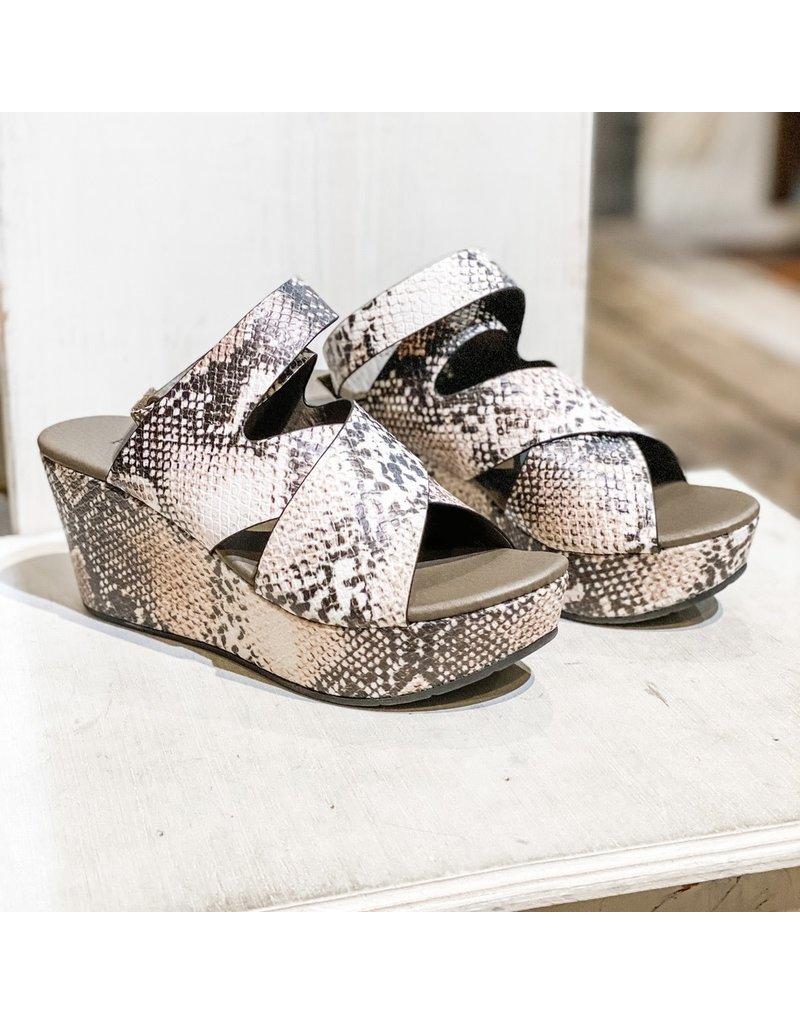 Pierre Dumas Natural Wedge Sandals